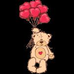 Medvídek s balónky